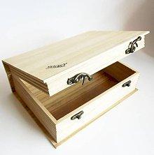 Polotovary - Krabička v tvare knihy, 23,5x17,5 cm - 10587675_