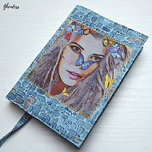 Papiernictvo - Univerzální obal na knihu - Motýlí víla - 10588030_