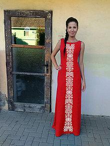Šaty - FOLK ŠATY (Červená) - 10589357_