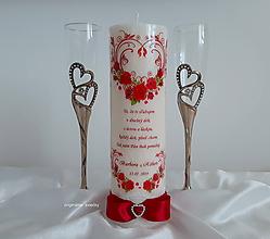 Svietidlá a sviečky - Svadobná sviečka - 10587961_