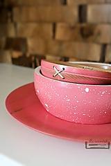 Nádoby - Set bukových ružových mís - 10587208_