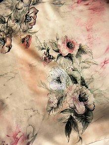Šatky - Šamanské květy /hedvábný šátek 75x75cm/ - 10588687_