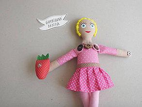 Hračky - Gombíková bábika *veselá* - 10587748_