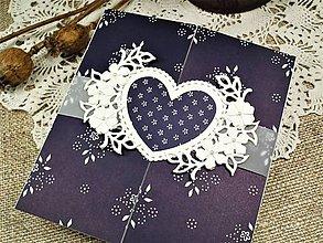 Papiernictvo - Modrotlačová svadba III. pohľadnica - 10587142_
