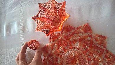 Dekorácie - Oranžová dekorácia-Veľká Noc - 10586489_