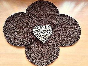 Úžitkový textil - Podšálka  (Horúca čokoláda) - 10586739_