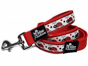 Pre zvieratká - Popruhové vodítko Ladybirds - 10588206_