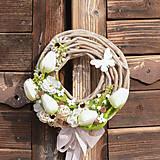 Dekorácie - Jarný venček na dvere - 10587874_