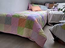 Úžitkový textil - Dievčenský prehoz Pastel - 10587045_