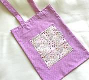 Detské tašky - EKO taška veselá dievčenská č.2 - 10587381_