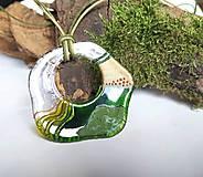 Náhrdelníky - Maľovaný sklenený šperk - 10586503_