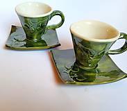 Nádoby - Na kávičku... súprava Listová - 10586555_