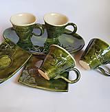 Nádoby - Na kávičku... súprava Listová - 10586905_