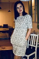 Šaty - Šaty basic vreckáče - sivá krajka - NEKOJO VARIANTA - 10586648_