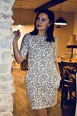 Šaty - Šaty basic vreckáče - sivá krajka - NEKOJO VARIANTA - 10586649_