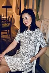 Šaty - Šaty basic vreckáče - sivá krajka - NEKOJO VARIANTA - 10586651_