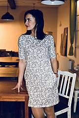 Šaty - Šaty basic vreckáče - sivá krajka - NEKOJO VARIANTA - 10586653_