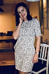 Šaty - Šaty basic vreckáče - sivá krajka - NEKOJO VARIANTA - 10586654_
