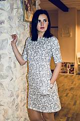 Šaty - Šaty basic vreckáče - sivá krajka - NEKOJO VARIANTA - 10586658_
