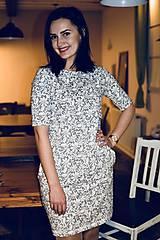 Šaty - Šaty basic vreckáče - sivá krajka - NEKOJO VARIANTA - 10586659_