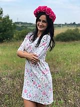 Šaty - Šaty basic vreckáče - Maľovaná lúka  - NEKOJO VARIANTA - 10586675_