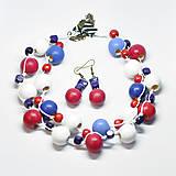Náušnice - Náušnice Sailor (Modrá) - 10587323_