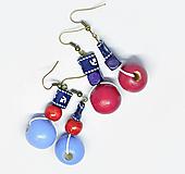 Náušnice - Náušnice Sailor (Modrá) - 10587325_