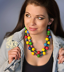 Sady šperkov - Springfield - sada šperkov (Žltá) - 10586871_