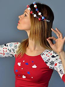 Tričká - Tričko Sailor - červené - 10587056_