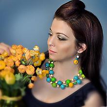 Sady šperkov - Narcissa - sada šperkov (Žltá) - 10587154_