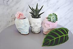 Nádoby - Betónová nádoba Skull Marble - 10587172_