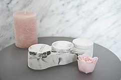 Nádoby - Betónový úložný mini box Locus Marble (Čierno-biela) - 10587330_