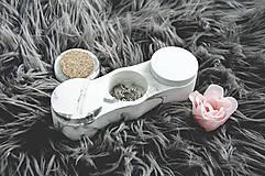 Nádoby - Betónový úložný mini box Locus Marble (Čierno-biela) - 10587345_