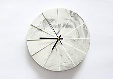 Hodiny - Betónové hodiny Tempus Marble - 10587435_