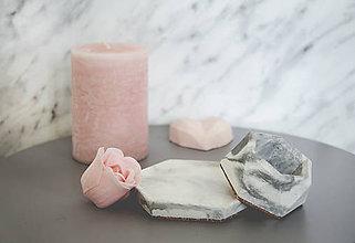 Nádoby - Betónový set Rebus Marble (Čierno-biela) - 10586942_