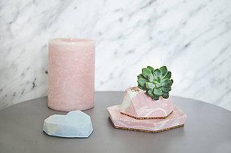 Nádoby - Betónový set Rebus Marble (Ružová) - 10586948_