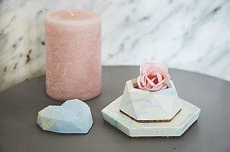 Nádoby - Betónový set Rebus Marble (Modrá) - 10586951_