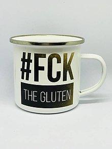 Nádoby - Smaltovaný hrnček #fckthegluten - 10586725_