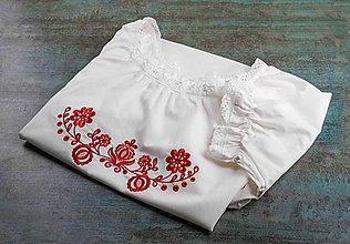 Pyžamy a župany - červená Búvajka s krátkym rukávom - 10586845_