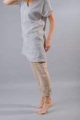 Tuniky - Ľanová tunika / šaty Kate, šedá - 10588974_