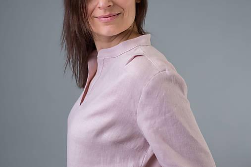 Dámske ľanové šaty / tunika Inga, ružové