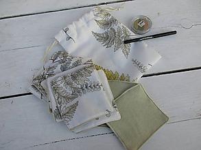 Úžitkový textil - Papradie-odličovacie tampóny - 10586447_
