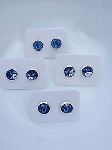 Náušnice - Modrotlačové náušničky rôzne druhy - 10587903_
