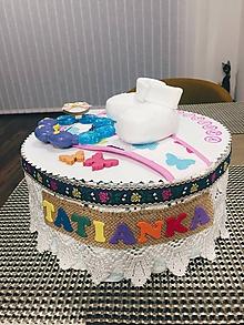 Detské doplnky - Plienková torta Tatianka - 10588684_
