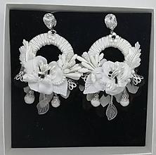 Náušnice - Bielo čierne hoop nausnicky - 10588035_