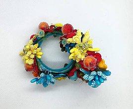 Náušnice - Kvetinové kruhové nausnice - 10588176_