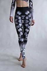 Nohavice - Lines mandalas black- legíny a top s dlhým rukávom - 10588089_