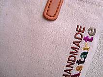 Veľké tašky - Ľanová taška na veľ. A4 / folk 2 (hnedoružová) - 10588584_
