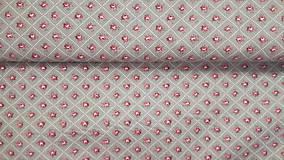 Textil - Ružičky bordové na šedom podklade š.140 - 10586959_