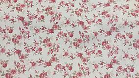 Textil - Ružičky na maslovom podklade š.140cm - 10587130_
